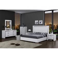 Modern Bedroom Set Ibiza Modern Bedroom Set Bed Dresser Mirror And 2 Nightstands