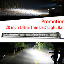 1 Piece <b>Car</b> LED Light Bar <b>20 Inch Ultra Thin</b> 52LED Light Bar ...