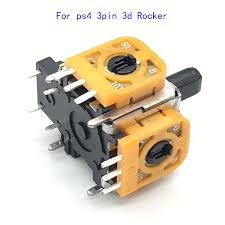 Original 3D <b>Rocker Analog Joystick</b> Replacement Yellow for Sony ...