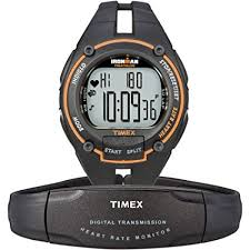 Timex Ironman <b>Men's</b> Road Trainer <b>Heart Rate Monitor</b> Watch, Black ...