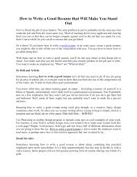 trendy how to make a perfect resume for brefash how to make a good resume format how to make a resume how to