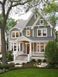 Exterior Design Ideas  Remodels  amp  PhotosInspiration for a traditional gray two story exterior in Chicago   wood siding and a