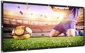 <b>100</b> inch <b>Projector</b> Screen 16:9 HD <b>Portable Foldable</b>: Amazon.co ...
