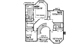 Victorian Style Home Plan   SH   nd Floor Master Suite    Reverse Floor Plan Pinit white