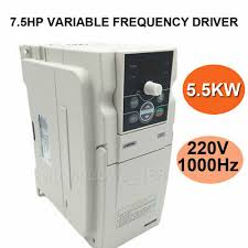 7.5HP 5.5KW VFD Inverter Driver 220V 3ph 24A Variable Frequency ...