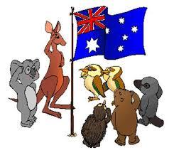 Image result for cartoons of Australian flag