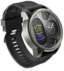 Dual Time <b>Smart Watch Mens</b> Heart Rate <b>Blood</b> Pressure Monitor ...