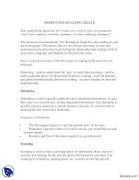 improving reading skills effective business communication lecture the document
