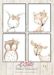 Walls Decoration <b>Boho Fox</b> Nursery Wall Art Woodland Animals ...