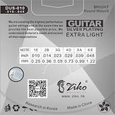 Online Shop <b>ZIKO DUS Series Acoustic</b> Guitar Strings 010-048 011 ...