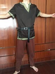<b>Adult Men Medieval</b> Knight Warrior Costume Green Tunic Clothing ...