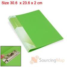 green plastic single lever clip paper file folder size a4 stationery a4 paper file folder