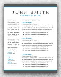 actor resume template word   resume template startactor resume template word