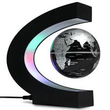 c shape magnetic levitation floating globe world map with led light decoration for home office buy shape home office