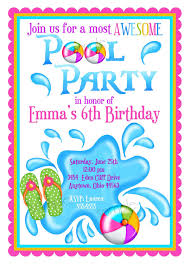 invitations page 4 of 119 mickey mouse invitations templates kids pool party invite