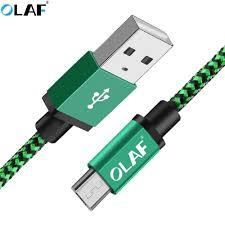 <b>Olaf</b> Micro <b>USB</b> Cable 2M 3m <b>Nylon</b> Braided Fast Charging Data ...