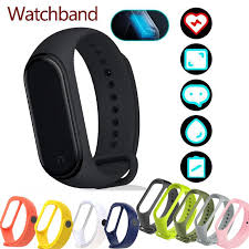 For Xiaomi Mi Band 4 3 <b>Silicone Replacement Wristband</b> Bracelet ...