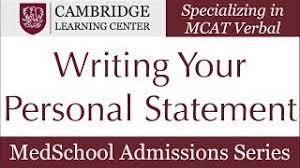 AMCAS Medical School Application  sample amcas personal statement
