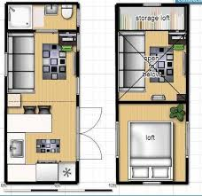 House on wheels  Tiny house on wheels and Floor plans on PinterestTiny house on wheels floor plan   single loft