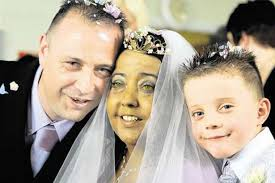 Liver patient Sharon Thomas, her new husband Eric Lewis and six-year-old Curtis at Birminghams Queen Elizabeth Hospital. LOVE conquered all at a Birmingham ... - liver-patient-sharon-thomas-her-new-husband-eric-lewis-and-six-year-old-curtis-at-birmingham-s-queen-elizabeth-hospital-841069785