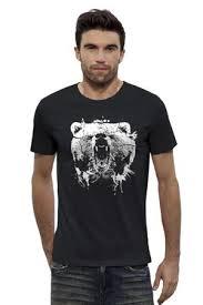 Футболка Wearcraft Premium Slim Fit <b>Printio</b> Медвежий Оскал ...