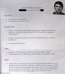 megan stammers  read jeremy forrest    s fake cv for french bar work    cv  jack dean  who had       gcses  four a levels and