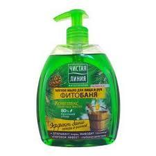 Купить <b>Мыло жидкое</b> для лица и рук «<b>Чистая линия</b>» - Фитобаня ...