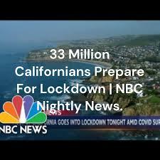 33 Million Californians Prepare For Lockdown   NBC Nightly News.