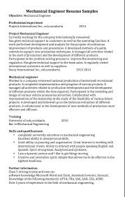 mechanical engineer resume examples   good resume samplemechanical engineer resume