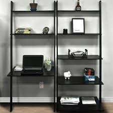 best choice products leaning shelf bookcase with computer best computer furniture