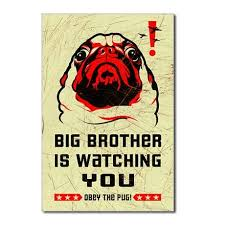 PUG- <b>Big Brother</b> Postcards (Package of 8) by <b>Obey</b> the Pure breed ...