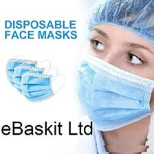 HCTian <b>50pcs</b> 3-Ply <b>Disposable Face</b> Mask with Elastic Earloop - <b>50</b> ...