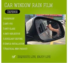 <b>2pcs Waterproof</b> Rainproof Anti Fog Film For Car Motorbike ...