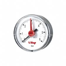 <b>Pressure</b> gauge, back connection, <b>0-6 bar</b> Italy - ITAP