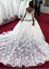 Discount Long Fantastic <b>Tulle</b> Lace Scoop <b>Neckline</b> Ball Gown ...