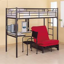 picture of space saver wall bed with lots of open wall shelving for office setting bed for office