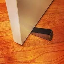 Deluxe Door Stop Wedge Brushed Nickel Finish 2pack