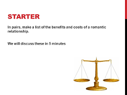 social exchange theory relationship formation starter in pairs  starter in pairs make a list of the benefits and costs of a romantic relationship