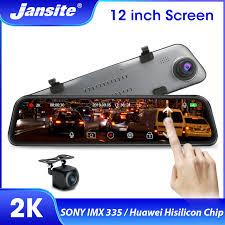 Jansite <b>12 inch 2K</b> 1440P <b>Rear View</b> Mirror Dash Cam Stream ...