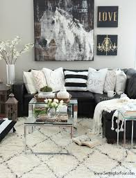 room decorating decoration pictures livingroom living room decor ideas black white and creamy neutrals with a pop of