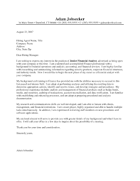 financial advisor cover letter samples template financial advisor cover letter samples