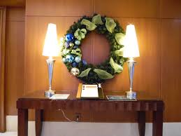 decor design hilton: light blue gold amp dark blue middot holiday decor