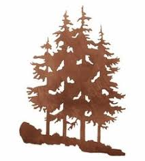 tree scene metal wall art: pine trees metal wall art  pine trees metal wall art