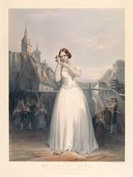 19th century opera victoria and albert museum jenny lind as amina in bellini s la sonnambula lithographic print around 1847