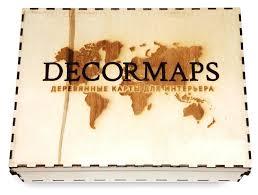 Панно Decormaps <b>деревянная карта мира</b> разноцветная, 3D ...