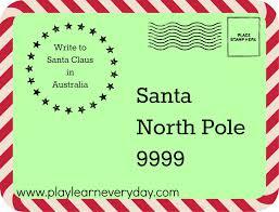 writing letters to santa around the world australia