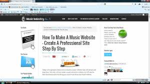 how to make a music website create a professional site step by how to make a music website create a professional site step by step
