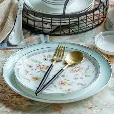 <b>2pcs</b>/set, 8+10 inch, <b>bone</b> china dinner set <b>plates</b> and dishes ...