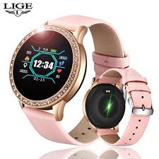 <b>LIGE Fashion smart</b> watch women men Sport waterproof clock Heart ...