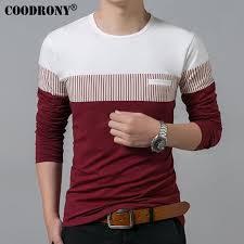 <b>COODRONY T-Shirt Men</b> Spring Autumn New Long Sleeve O-Neck ...